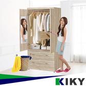 【免組裝】MIT台灣製 木心板衣櫥3*6 (穿衣鏡+門後掛勾+掛衣架)收納櫃 櫃子 衣櫃 置物櫃 KIKY