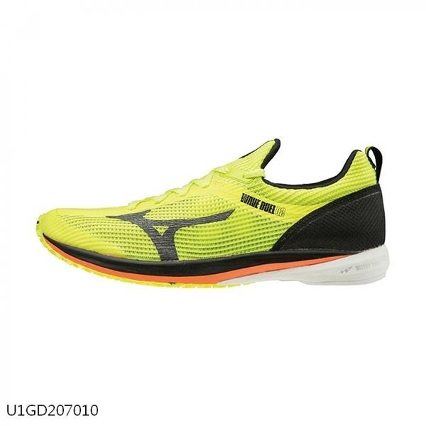 Mizuno Wave Duel 2 Wide [U1GD207010] 男鞋 運動 休閒 慢跑 避震 耐磨 黃 黑