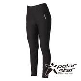 PolarStar 女 針織彈性合身保暖褲『黑』P15430