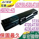 ACER 電池(保固最久)-宏碁  AS4310,AS4320,AS4710,AS4715,AS4510,AS4530,AS07A42,AS07A51,AS07A52