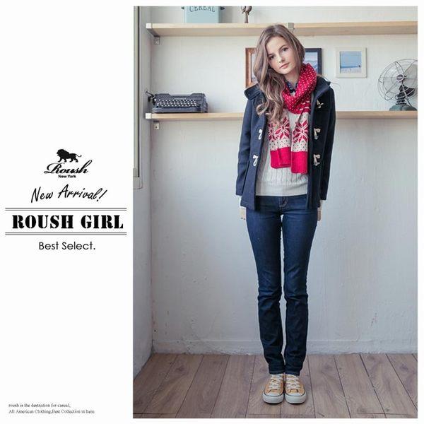 【Roush】女生雪花點點設計混羊毛圍巾 - 【1098-1】