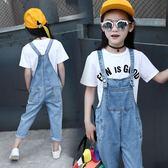 【黑色星期五】女童洋氣春裝新款中大童9牛仔12歲10背帶褲時尚潮8