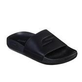 (C4) SKECHERS 2021 女生運動拖鞋 柔軟 輕便 減震 舒適 130022BBK 黑色拖鞋 [陽光樂活]