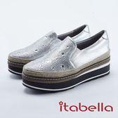 ★2018 春夏新品★itabella.閃耀星空厚底休閒鞋(8208-80銀色)