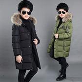 男童冬季棉衣日韓中長款冬裝加厚外套中大兒童羽絨服棉襖 優樂居