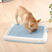 狗狗廁所沖水法斗柯基自動尿屎盆泰迪寵物便用品小型中型犬誘便器igo   蓓娜衣都