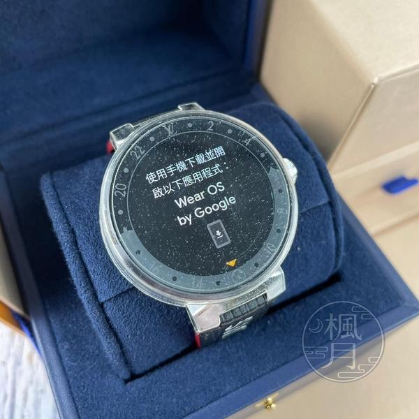 BRAND楓月 LOUIS VUITTON  LV  QA05智慧手錶 Tambour Horizon 黑紅錶帶 腕錶