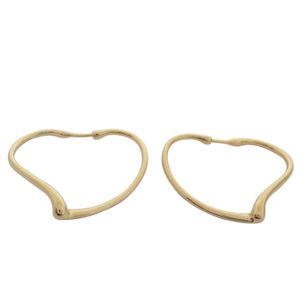 Tiffany & Co 蒂芬妮 Elsa Peretti® Open Heart 18黃K金圈形耳環【BRAND OFF】