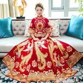 秀禾服新娘2018新款結婚中式婚紗禮服修身秀和服婚禮龍鳳褂敬酒服 魔方數碼館igo