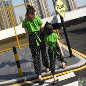 親子裝 母女裝親子裝2019新款潮洋氣夏裝時尚抖音網紅t恤 家庭裝兩件套裝 多款可選