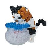《 Nano Block 迷你積木 》【 可愛動物系列 】NBC-272 魚缸貓咪╭★ JOYBUS玩具百貨
