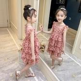 網紅女童洋氣洋裝夏裝新款韓版兒童大童夏季裙子女孩公主裙 伊衫風尚
