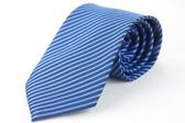 【Alpaca】藍色壓光斜紋領帶