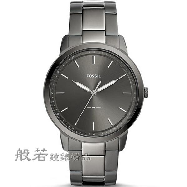 FOSSIL極簡主義 Minimalist 大三針時尚腕錶/鐵灰