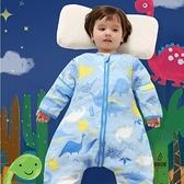 寶寶睡袋純棉薄款紗布分腿兒童防踢被四季通用嬰兒【愛物及屋】