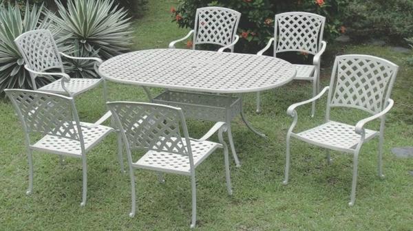 【南洋風休閒傢俱】戶外休閒桌椅系列-編織扶手橢圓桌椅組 戶外休閒餐桌椅組 (#383 #20310)