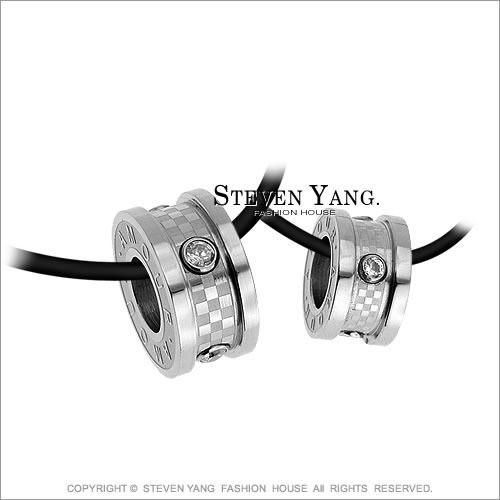 情侶對鍊 西德鋼飾「愛情狂想」鋼項鍊*單個價格*滾輪 羅志祥