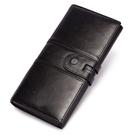 女士長款錢包 女生長夾 三折防盜刷錢包女包長款錢包 女士復古歐美多卡位錢包 女士長款錢夾皮夾