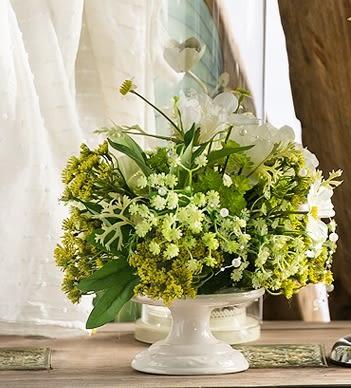 高檔模擬花成品 客廳餐桌擺放絹花套裝  -bri010011