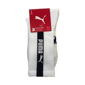 Puma 白色 襪子 長襪 男女款 中筒襪 運動長襪 棉質 未來騎手 白色襪子 90777501