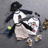 雙12購物節   2018新款春秋兒童卡通印花長袖T恤男童女童寶寶打底衫套頭衫上衣  mandyc衣間