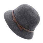 漁夫帽女英倫帽羊毛帽日系百搭盆秋冬季針織帽【少女顏究院】