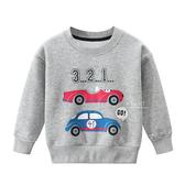 保暖內刷毛賽車長袖上衣 童裝 保暖上衣
