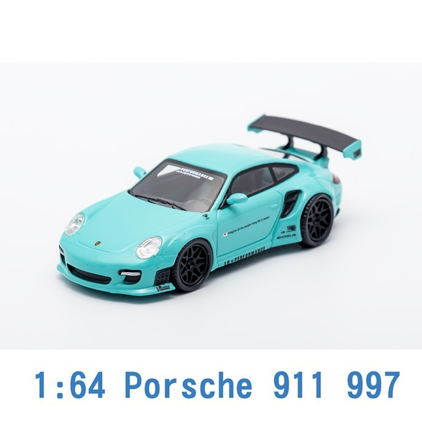 M.C.E. 1/64 模型車 Porsche 保時捷 911 997 (TIFFANY BLUE) MCE640002C 蒂芬妮藍