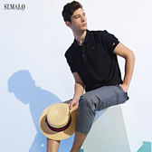【ST.MALO】新科技XT2銀纖維POLO衫-1958MP-魚子黑