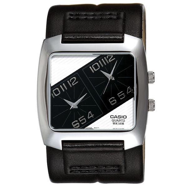 CASIO 時尚旅行兩地時間腕錶(黑)