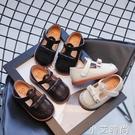 女童皮鞋2021春秋季新款軟底寶寶兒童時尚豆豆單鞋小女孩公主鞋 小艾新品