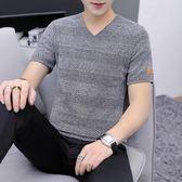 短袖T恤男加肥加大碼男裝2019早春新款夏裝半袖肥佬胖子針織上衣『潮流世家』
