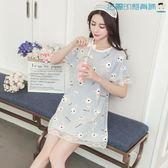 【618好康又一發】睡裙女短袖純棉韓版冰絲睡衣居家服