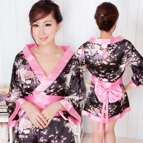 情趣用品-角色扮演服 浪漫櫻花!迷惑女人香和服三件組