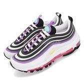 Nike 休閒慢跑鞋 Wmns Air Max 97 白 紫 桃紅 女鞋 運動鞋【PUMP306】 921733-106