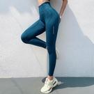 運動褲 健身褲女彈力緊身提臀蜜桃瑜伽褲印花速干跑步高腰收腹秋冬運動褲