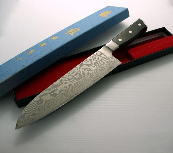 龍紋牛刀-花紋鋼鍛木柄(A00093) 本賣場為240mm,另有210mm、270mm、300mm可選擇