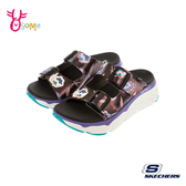 Skechers涼鞋 女涼鞋 運動涼鞋 MAX CUSHIONING SANDAL 健走涼鞋 柔軟Q彈 記憶鞋墊 U8217#黑彩◆OSOME奧森鞋業