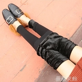 蕾絲打底褲 無痕瑜伽褲薄絨款九分褲蕾絲磨毛打底褲女外穿秋季2021新款女神褲