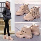 雪靴增高馬丁靴女英倫風季韓版百搭學生雪地加絨瘦瘦短靴