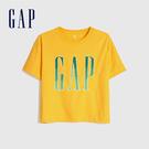 Gap女裝 LOGO字母亮色圓領短袖T恤 582286-光芒黃色