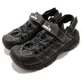 DIADORA 涼鞋 黑 全黑 護趾排水運動涼鞋 水陸兩用 戶外 運動鞋 男鞋【PUMP306】 DA8AMS5890
