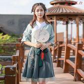 古風漢元素改良古裝漢服繡花半裙套裝 衣普菈
