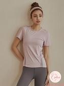 健身上衣女顯瘦夏季速干T恤跑步運動短袖衣服健身服【大碼百分百】
