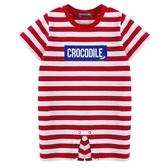 『小鱷魚童裝』條紋LOGO連身裝(0號~01號)533534