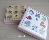 ☆草莓牛奶屋☆日本進口【KODOMO NO KAO】Papeterie花卉印章組(粉紅盒)