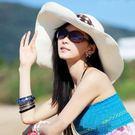 帽子女士夏天韓版草帽太陽帽大沿帽韓版遮陽帽大檐防曬沙灘帽