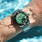 男士手錶 綠新款男士手錶機械錶鋼帶防水學...