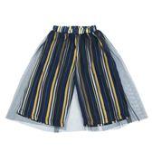年終大促 女童網紗雪紡闊腿褲2018夏季新款韓版兒童裝直筒條紋寶寶七分褲子