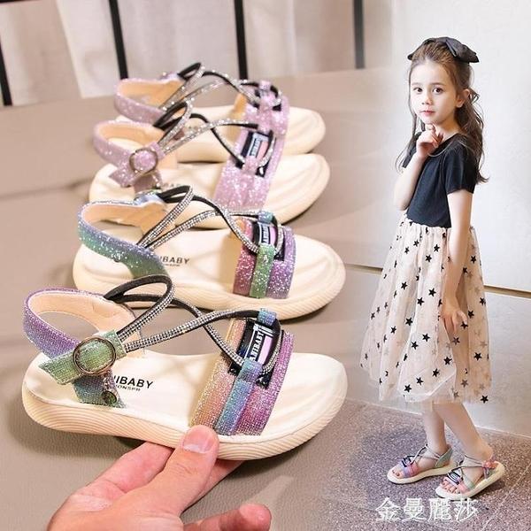 女童涼鞋新款兒童鞋夏季小童時尚小女孩公主軟底中大童女童鞋 極簡雜貨
